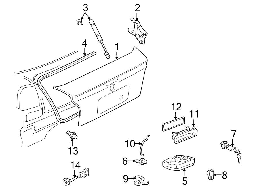 Volkswagen Cabrio Deck Lid Seal. SEDAN. STATION WAGON ...