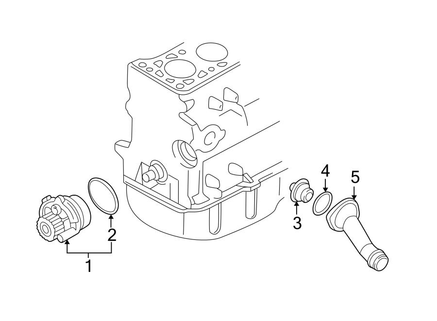 Volkswagen Jetta Engine Coolant Thermostat Housing  Liter