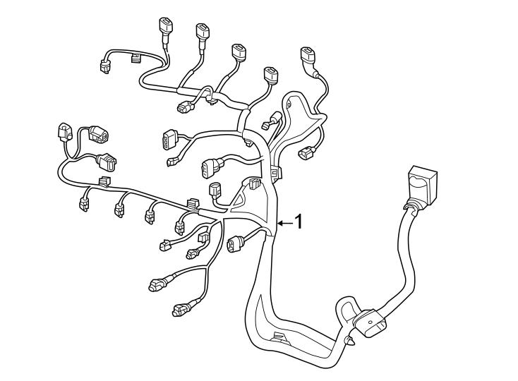 Volkswagen Jetta Engine Wiring Harness  Trans  Liter