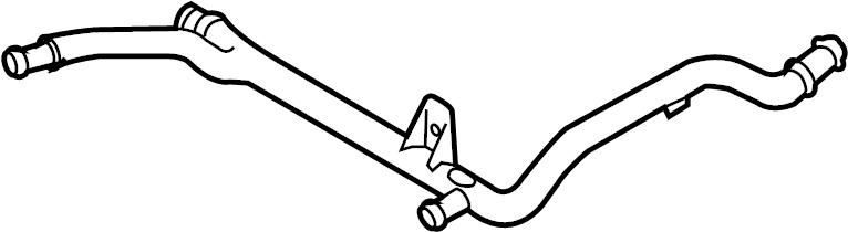 Volkswagen Jetta Engine Coolant Crossover Pipe  Line